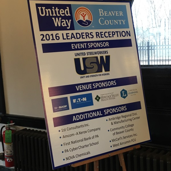 United Way of Beaver County Hosts Leaders Reception – United