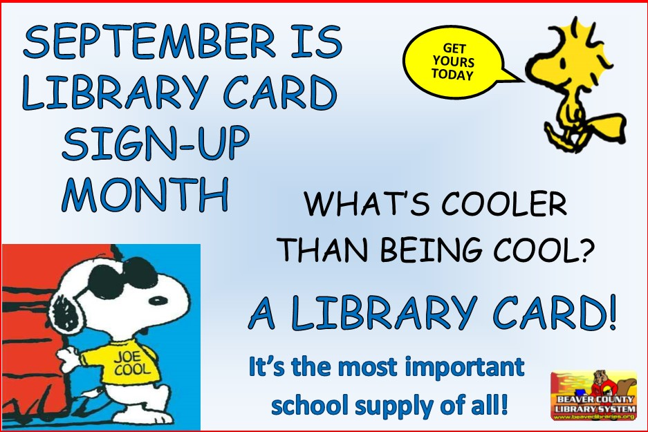 September Is Library Card SignUp Month  United Way Of Beaver County